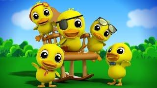 five little ducklings | nursery rhymes Farmees | kids songs | 3d rhymes | baby songs