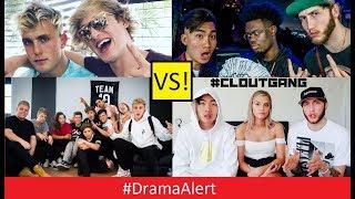 Jake Paul, Logan Paul & Team 10 (vs) RiceGum, Alissa Violet, FaZe Banks & Clout Gang! #DramaAlert