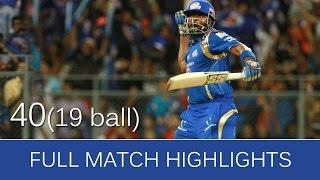 IPL 2016 : MI vs RCB full match highlights | mumbai and bangalore 2016 #SlideShow