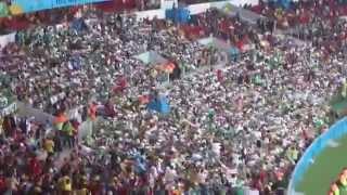 ALGERIANS FANS - التشجيع على الطريقة الجزائرية يبهر العالم في البرازيل