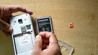 Samsung Galaxy J2 How To Insert sim card | Micro SIM Card | Dual SIM Mobile Tutorial | Samsung J2