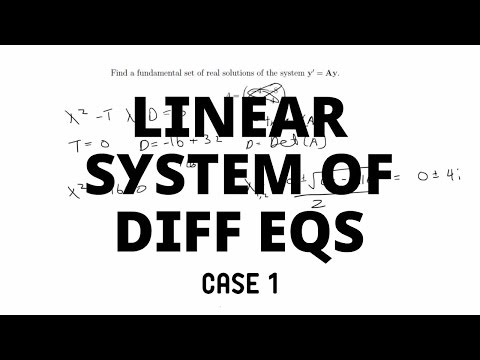Case 1: Complex Eigenvalues | System of Differential Equations