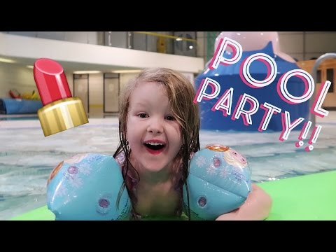 SHOPKINS POOL PARTY DONATING AT CHRISTMAS