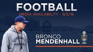 FOOTBALL: Press Conference - Bronco Mendenhall 9/5/16