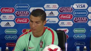 RUS v POR - Cristiano Ronaldo - Portugal Post-Match Press Conference