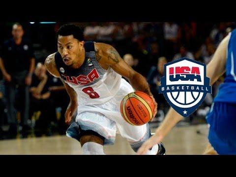 watch Derrick Rose Team USA Offense Highlights (2014) - EXPLOSIVE!