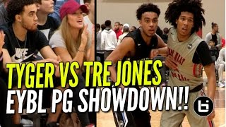 Tre Jones vs Tyger Campbell ELITE PG Showdown at Nike EYBL!! Brother of Tyus Jones