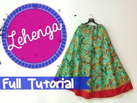 Lehenga cutting and stitching- DIY