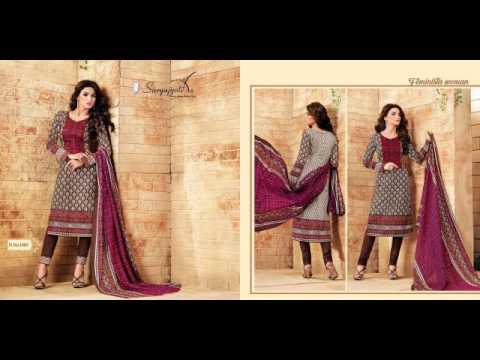 Bundle Of 10 Salwar Kameez - Catalog Kashmiri Cotton Vol 1 By Suryajyothi