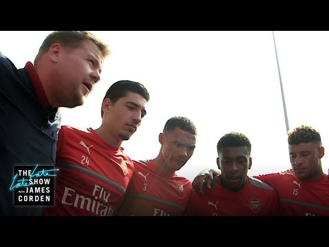 James Corden Takes Over as Coach of Arsenal F.C.