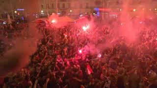 Así celebraron en Croacia el pase a la final del mundial