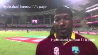 Funny IpL (Hyderabadi bubbled) chris gayle on Heights