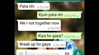 After break up conversation between BF and GF😞
