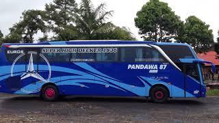 konvoi bus pandawa 87 di bedugul bali