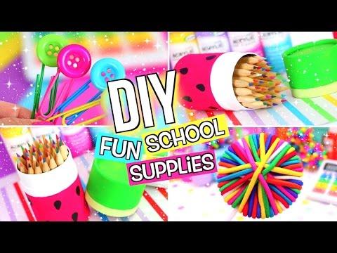 DIY SCHOOL SUPPLIES! DIY BACK TO SCHOOL SUPPLIES!