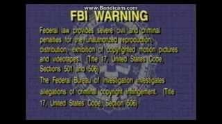 FBI Warning screen and Interpol Warning screen (Fade transition)