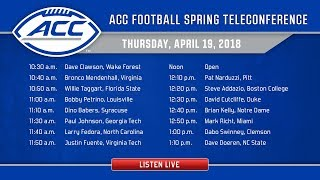 ACC Football Spring Teleconference