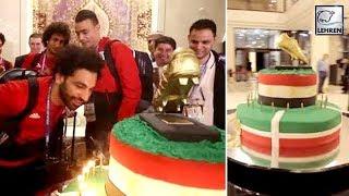 Mohamed Salah Was Surprised With HUGE Cake After Egypt