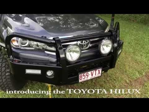 TJM Brendale on the hoist 2016 Hilux Bull bar 4wd Accessories