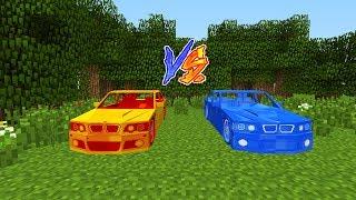 LAV ARABA VS SU ARABA FABRİKASI! - Minecraft