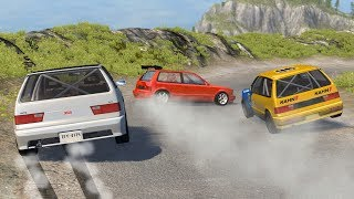 Beamng drive - Touge Race car Crashes