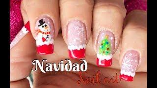 Diseño de uñas Navidad - Christmas Nail art