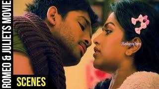 Romeo & Juliets Malayalam Movie Scenes | Allu Arjun Romances Amala Paul | Iddarammayilatho | DSP