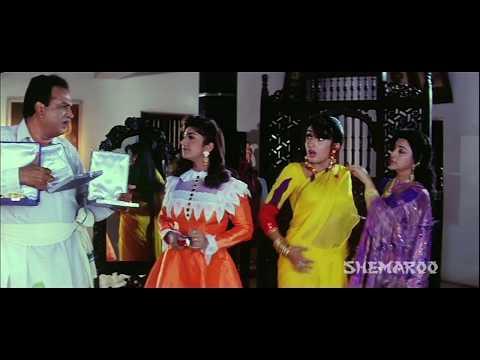 Alluda Majaka - Ramya Krishna reluctant to wear saree - Chiranjeevi