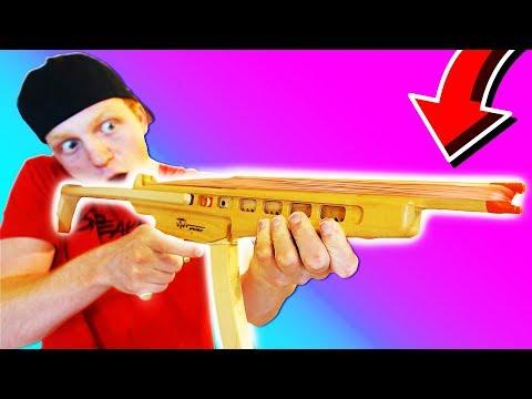 WORLD S CRAZIEST RUBBER BAND MACHINE GUN