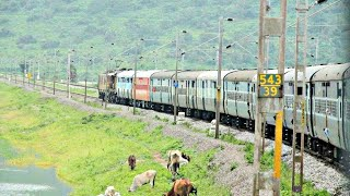 AWESOME CHILKA LAKE RIDE THROUGH MOVING TRAIN:INDIAN RAILWAYS