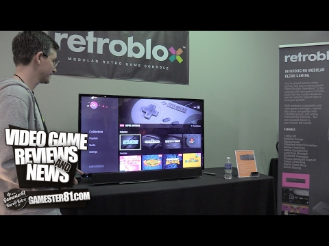 RetroBlox - prototype in action - the ultimate retro console -- Gamester81