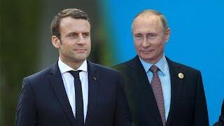 Пресс-конференция Владимира Путина и Эммануэля Макрона по итогам переговоров. Полное видео