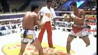 Myanmar lethwei(Lone Chaw) vs Muay Thai(Lat Mon Kun), 2/3
