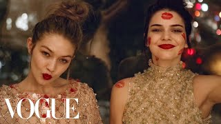 Kendall Jenner and Gigi Hadid's Sleepover Party in Chanel Couture