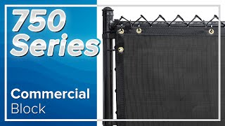 Commercial Block Fence Privacy Screen for Tennis Courts | Baseball Fields | Commercial Projects