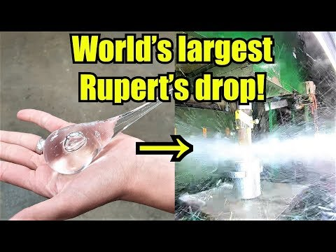 How Strong Are Prince Rupert s Drops Hydraulic Press Test
