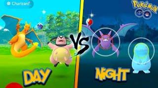 DO RARE POKEMON SPAWN MORE AT NIGHT OR DAY? Pokemon Go MYTHBUSTERS! + Wild Charizard, Crobat & More!