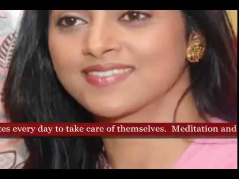 Tamil Actress Nadhiya's beauty secret and Health Fitness