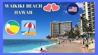 HAWAII, walking tour of the magnificent BEACH of WAIKIKI (island of O'ahu)