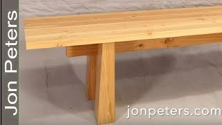 How to Design and Build This Cool Modern Bench
