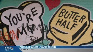 'You're my butter half' becomes latest Austin mural to get tagged
