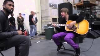Justin Bieber, Usher & Jaden Smith - backstage Grammy Rehearsals