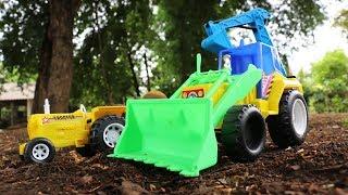 รถของเล่นสำหรับเด็ก รถแทรกเตอร์บรรทุกผลไม้ รถแม็คโคร รถตักดิน รถดั้มกลบดิน New Tractor Truck For Kid