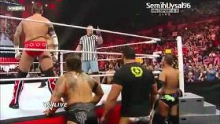 CM Punk vs Wade Barret Special Guest Referee John Cena Full Match. Raw 1/24/11.