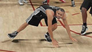 NBA 2K16 PS4 My Career - Tony Parker Stumbling!
