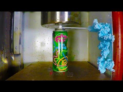 Hydraulic Press | Silly String | PressTube