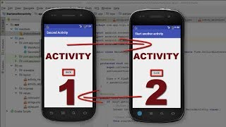 Tutorial how to create new activity and switch between activities with buttons in Android Studio