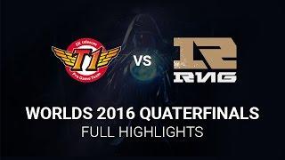 SKT vs RNG Highlights All Games, S6 Worlds 2016 Quarter final, SK Telecom T1 vs Royal Never Give Up