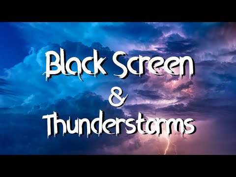 ⛈️ Heavy Rainfall with loud strong Thunderstorms Black Stormy on a  Moonless Night