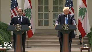 Trump and Lebanese PM hold press conference